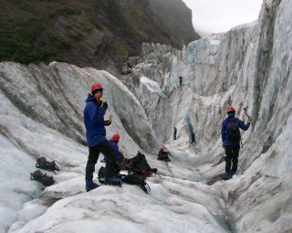 Ice climbing at Franz Josef