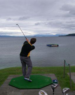 Rosey golfing