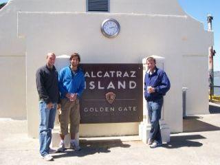 Us three at Alcatraz