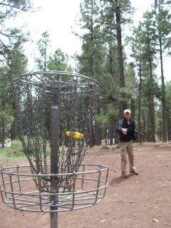 Frisbee golf in Flagstaff