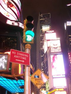 Times Square lamp post