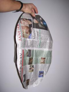 Hot air balloon newspaper design