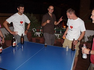 Beer Pong on the Roof Terrace